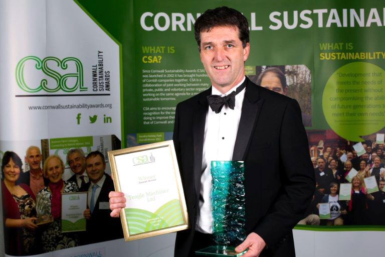 Teagle Overall Winner at the Cornwall Sustainability Awards 2016